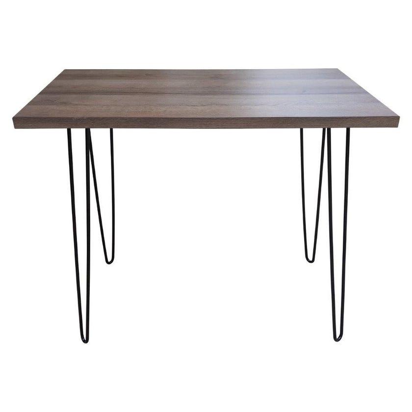 Christy Metal Desk Laptop Table- Brown