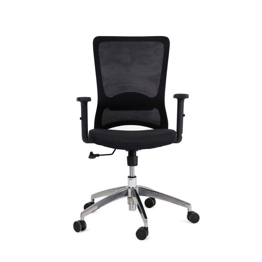 Arvi Fabric Upholstered Mesh Office Chair - Black