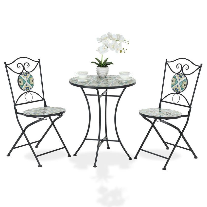 Batik Bistro Table Set With 2 Chairs