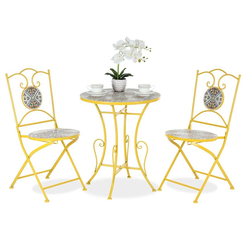 Gelato Bistro Table Set With 2 Chairs