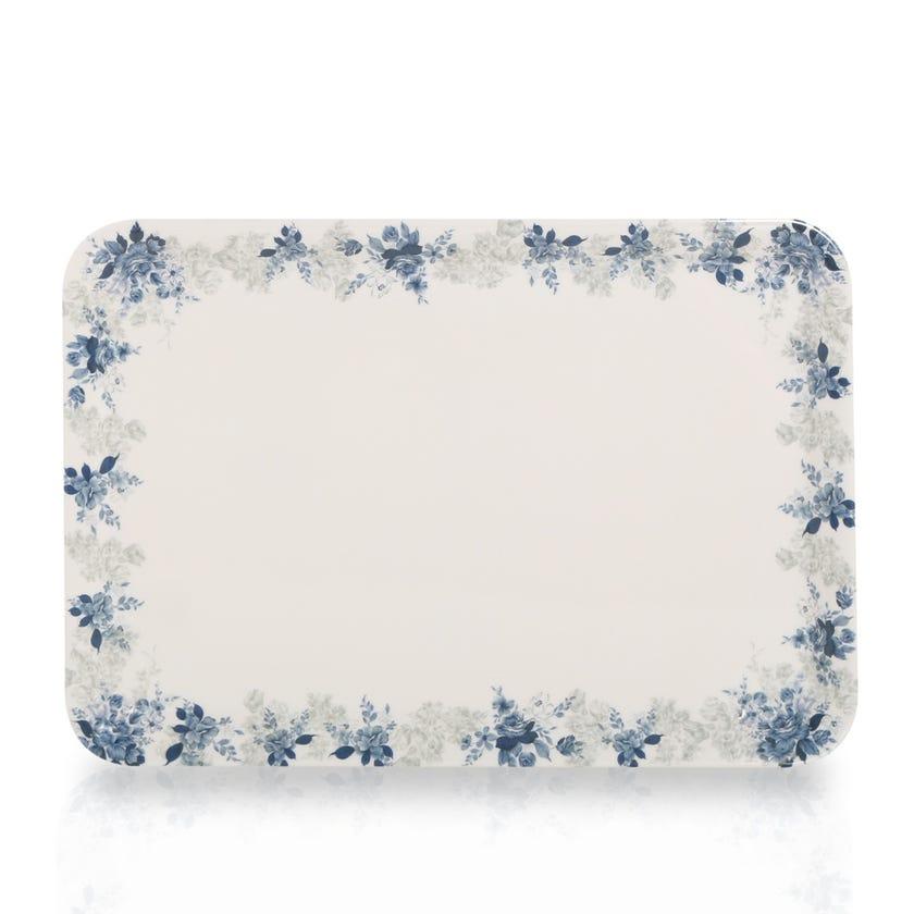 Rose Garden Melamine Comfort Tray, Large - 35 x 24 cms