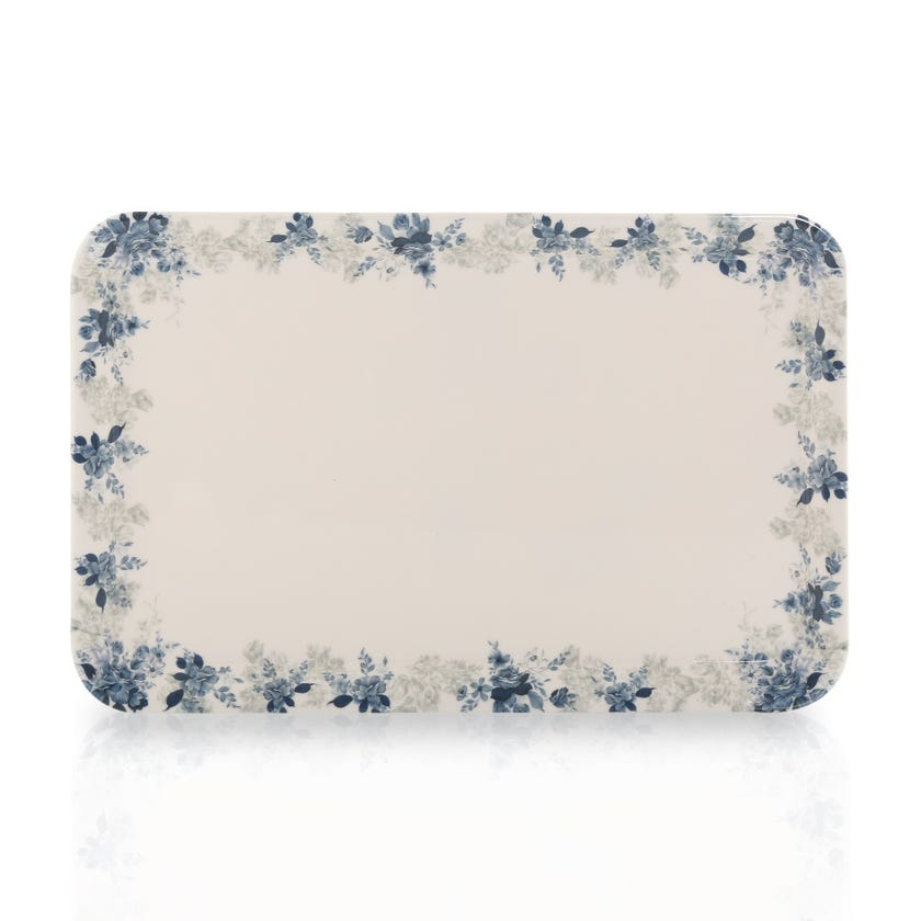 Rose Garden Melamine Comfort Tray, Medium - 30 x 19 cms