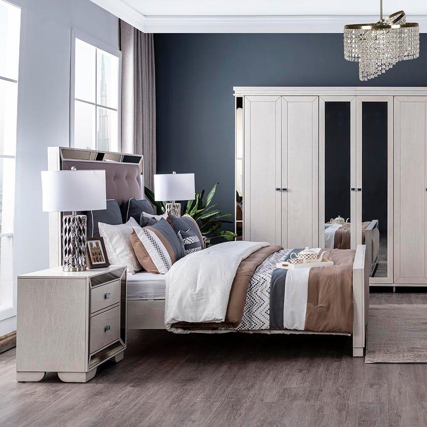 Juliette Queen Size Wooden Bed - 150x200 cms