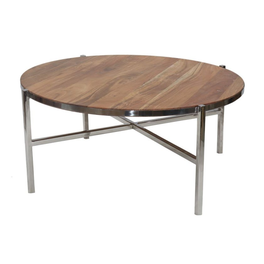 Avery Coffee Table (Walnut/Chrome)