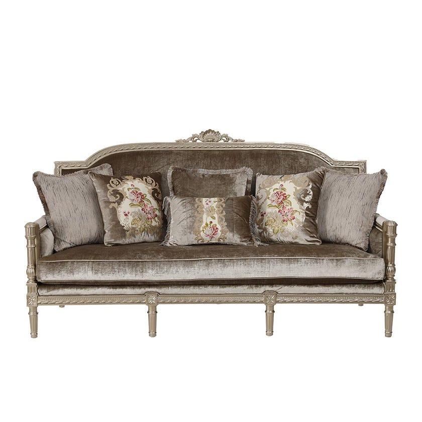 Melika Velvet Upholstered 3-seater Sofa - Gold