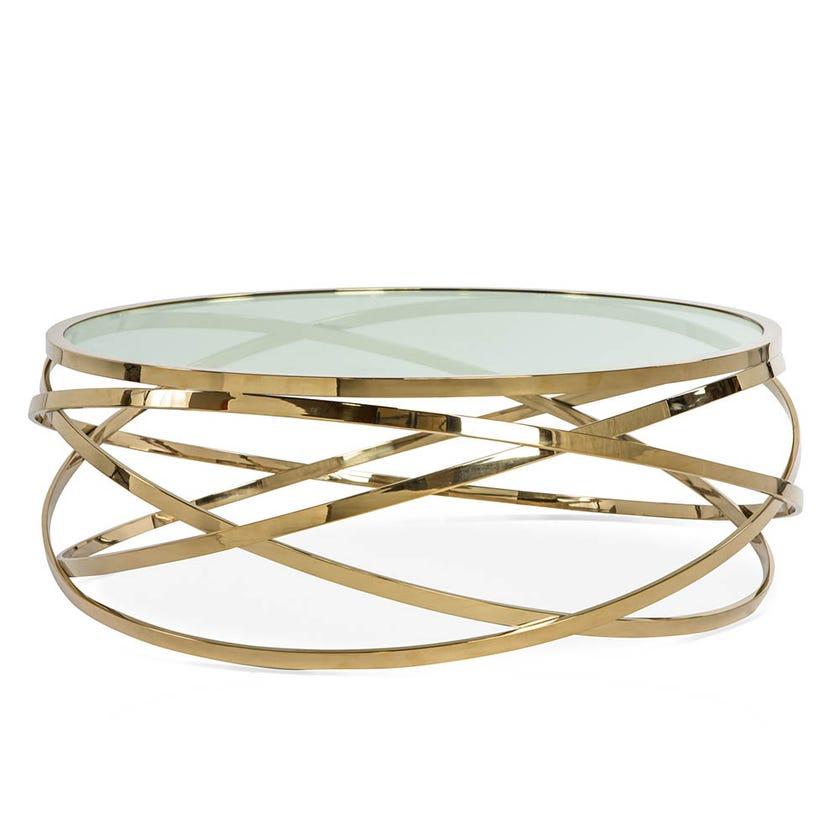 Orbit Metal Coffee Table - Gold