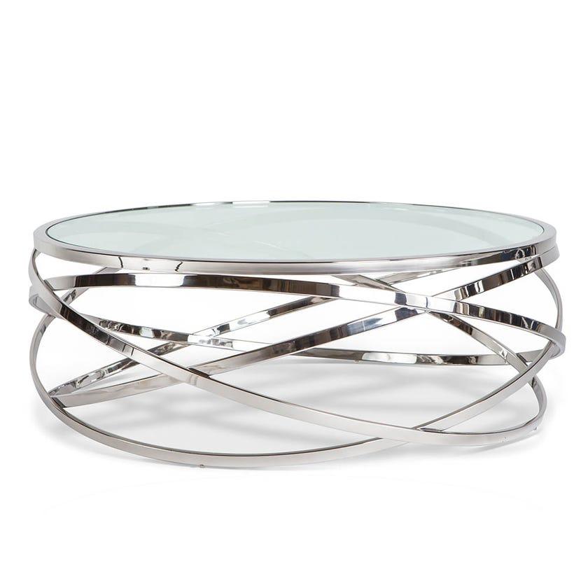 Orbit Metal Coffee Table - Silver